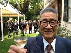 Uchiyama op Receptie Nederlkandse Ambassade voor Koningsdag