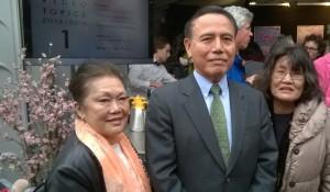 Japanse ambasadeur met Namiko en Hideko 2015